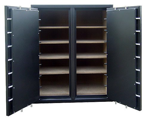 Double door double wide gun safe interior