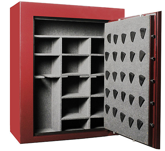 Deluxe double wide gun safe interior