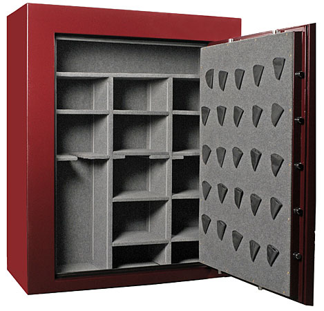 Double wide large capacity gun safe door open
