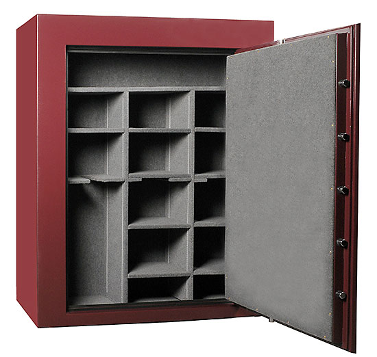 Large capacity gun safe interior