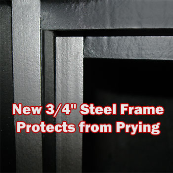 Safe Anti Pry System Steel Frame - Protects from Prying
