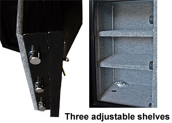 Supra safe adjustable shelves