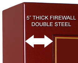 "5"" thick fire wall"