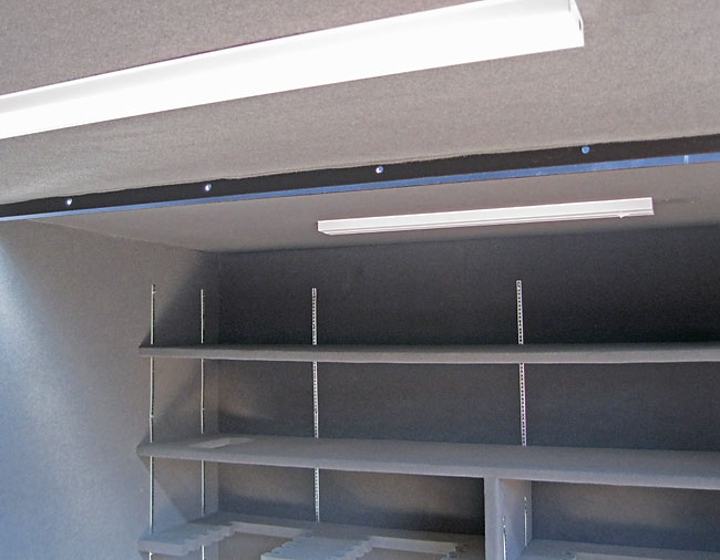 Optional Safety Shelter Overhead Lighting and Electrical Outlets Available.