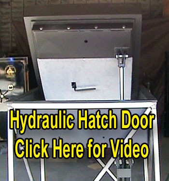 Hydraulic hatch door video image
