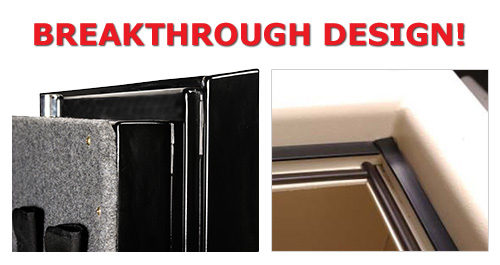 Fireproof safes, step door system with expandible gaskets