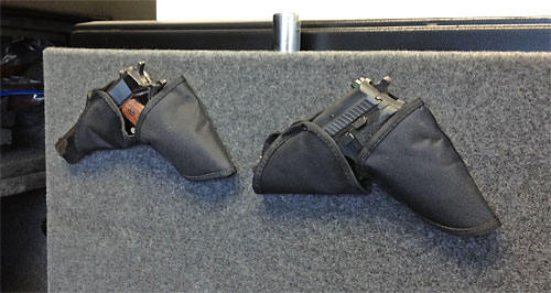 Double pistol holders